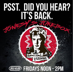 Jonesy's Jukebox is back!