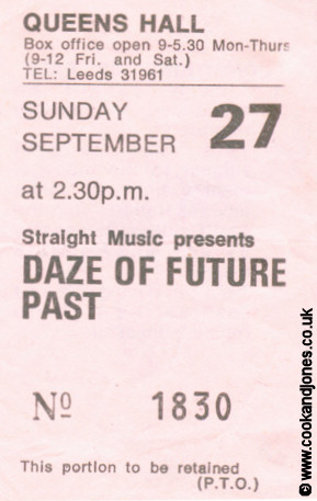 The Professionals Ticket Daze Of Future Past 1981