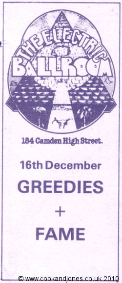 THE GREEDIES 1978