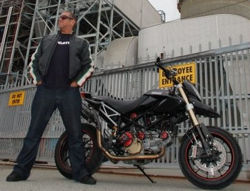 Steve has taken delivery of a new customized Hypermotard S at Ducati headquarters.
